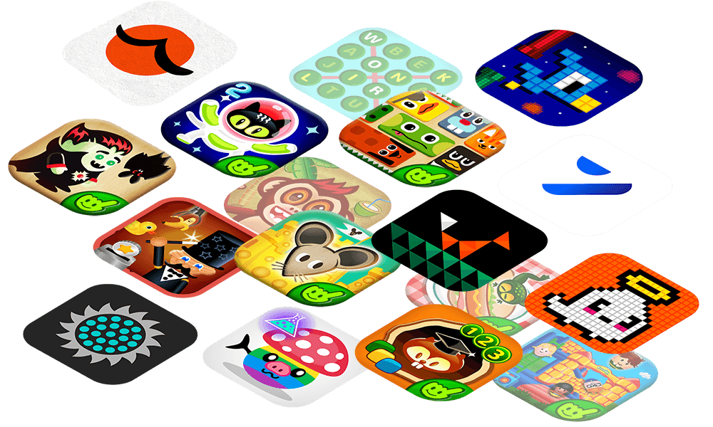 frosby app wall portfolio collection content licensing uk developer kids educational games isometric tilted photoshop